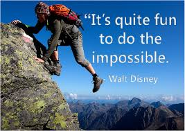 It's quite fun to do the impossible